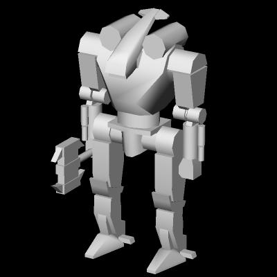 Axeman: 3D terminée dans 1 - 3D Axeman_3D